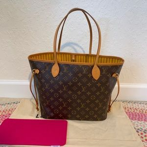 Louis Vuitton Neverfull MM MIMOSA 💛RARE💛INTERIOR